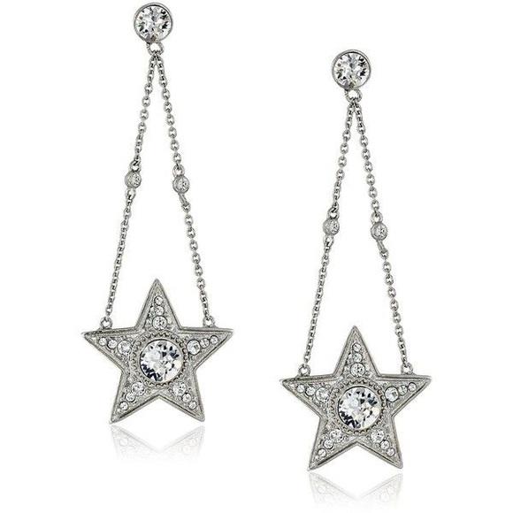 c60518ad5d5647 Nina Swarovski Crystal Star Drop Earrings NWT